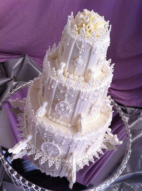 ROYAL ICE WEDDING CAKE(CAKE AWAY COMPETITION) by Red Carpet Cake Design ® by Red Carpet Cake Design®, via Flickr