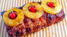 Lomo de cerdo en salsa de piña, receta exótica y muy sabrosa ideal para celebraciones como Navidad o Fin de año. La piña contiene bromelina