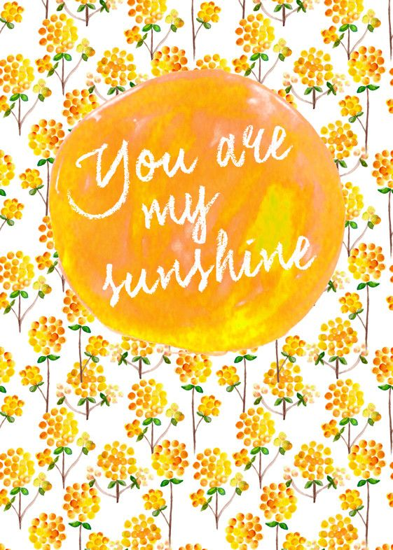 Floral: You Are My Sunshine Wall Art from Artifax