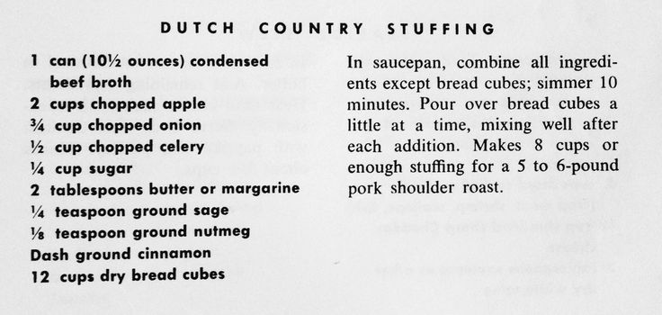 Dutch Country Stuffing