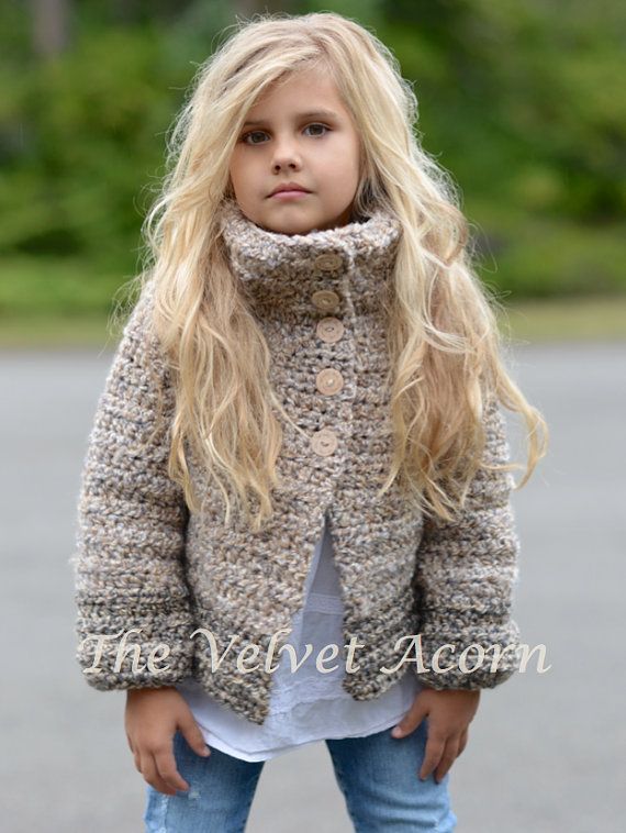CROCHET PATTERN-The Moonlight Cardigan 2/3 4/5 por Thevelvetacorn
