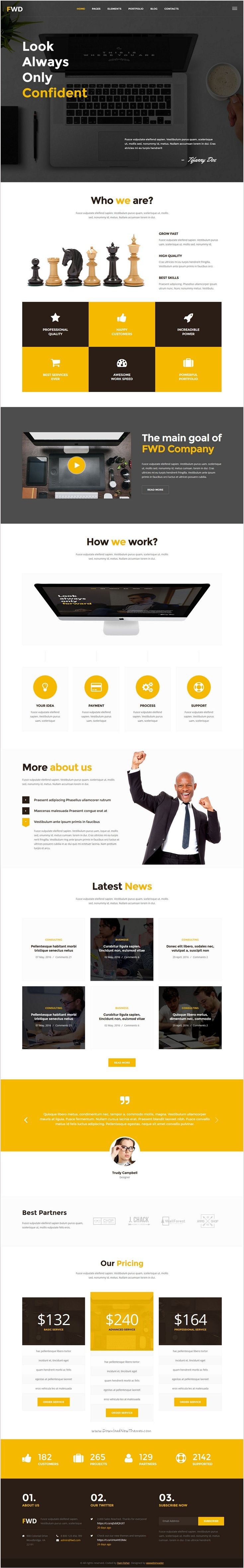 Forward is a clean & responsive #HTML template suitable for #webdesign your #corporate business, agency or a portfolio website download now➩ https://themeforest.net/item/forward-business-corporate-html-template/18510975?ref=Datasata