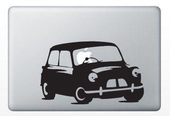 Macbook Funny Humor Decal Design Sticker Apple Drive Mini Cooper