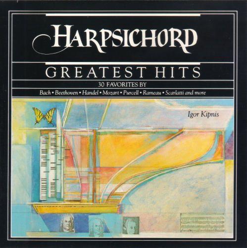 1989 Igor Kipnis - Harpsichord Greatest Hits (CBS Masterworks) [CBS MLK45524 / ] cover illustration by Michael Ng #albumcover