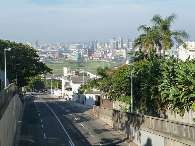 Springfield Rd running from the southern end of the Greyville Race Course up to the Berea in Durban