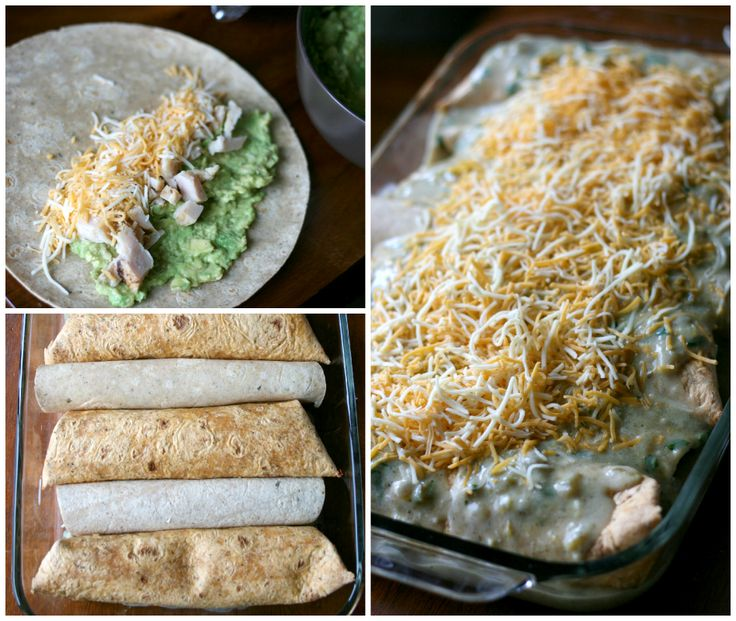 Avocado Chicken Enchiladas: Sub corn tortillas (what you'd normally use for enchiladas anyway) for the flour ones suggested (use GF flour for sauce)...voila! Gluten free!