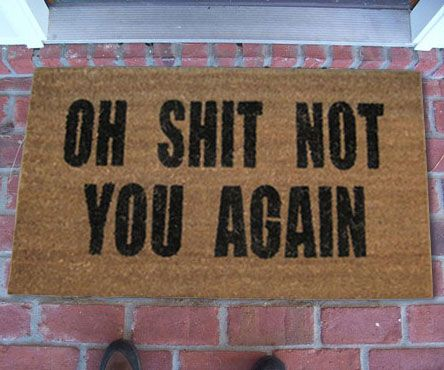 Greet your guests with bitter surprise with these out of the ordinary doormats…