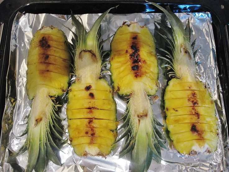 Grilled pineapple with rum and brown sugar http://theproofofthepudding.net/2014/08/22/easy-grilled-pineapple/