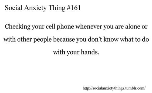 Social anxiety problems. This me constantly..and it sucks because when I do, do this people think im rude or not interested in accompanying them...