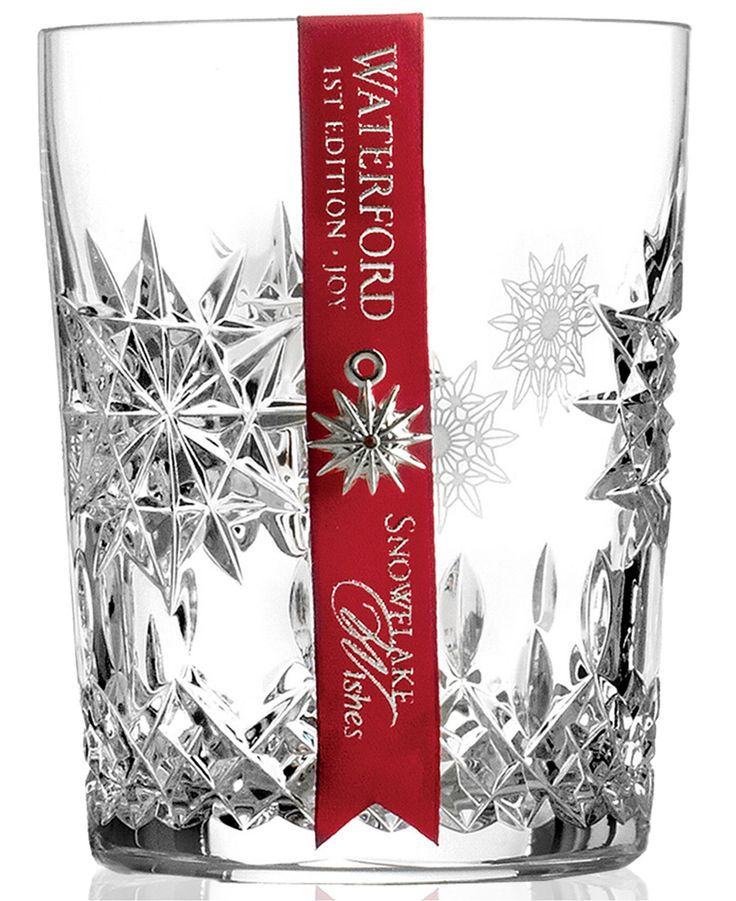 Waterford Drinkware, Snowflake Wishes for Joy Double Old Fashioned Glass - Waterford - For The Home - Macy's