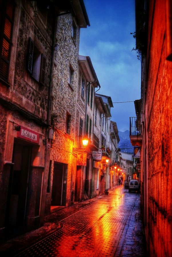 Straatje op Mallorca