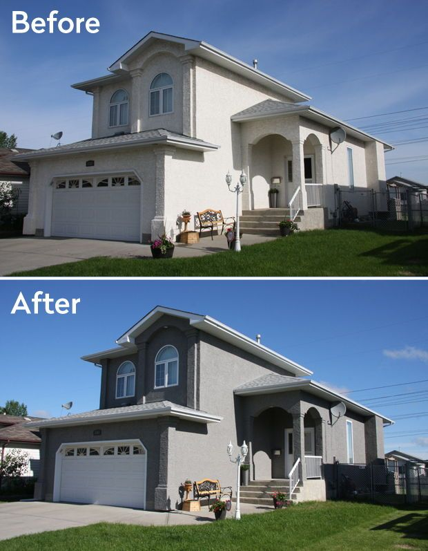 A Curb Appeal Renovation That Included Removing Damaged Eifs Synthetic Stucco And Replacing It Craftsman Home Exterior Stucco And Stone Exterior Facade House