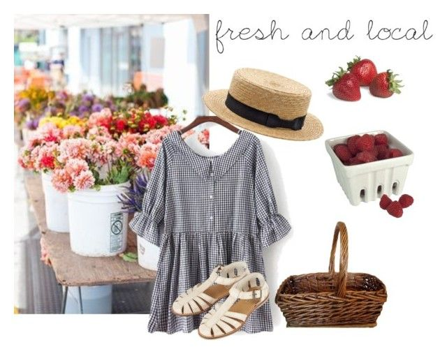 """""""Farmers Market"""" by samarayared ❤ liked on Polyvore featuring Hostess, American Retro and Topshop"""