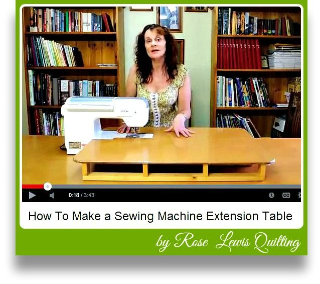 Free video DIY sewing table extension!  #sewing