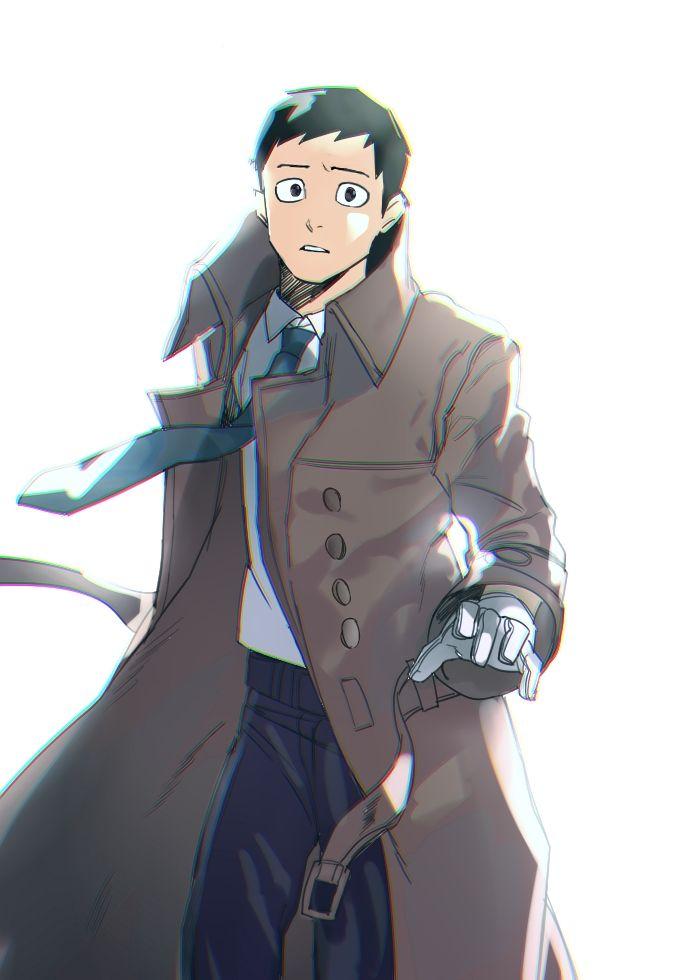 Pixiv Id 16180872, Boku no Hero Academia, Tsukauchi Naomasa, Open Coat, Wind, White Handwear