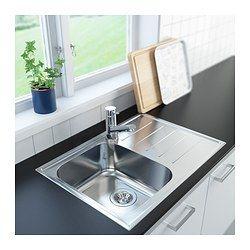 IKEA - BOHOLMEN, Lavello 1 vasca sgoc+valvola/sifone, 25 anni di garanzia. Scopri i termini e le condizioni nell'opuscolo della garanzia.È reversibile, quindi si può usare con lo sgocciolatoio a destra o a sinistra.Il lavello non è forato, quindi puoi scegliere dove mettere il miscelatore.Lavello in acciaio inossidabile, un materiale igienico, resistente e facile da pulire.Per praticare il foro per il miscelatore, usa il set di 2 attrezzi FIXA, venduto a parte.