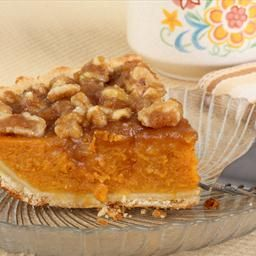 Pumpkin Pie with Brown Sugar-Walnut Topping | Recipe | Pumpkin Pies ...