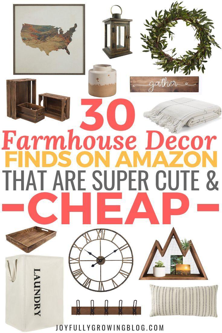 30 Farmhouse Finds On Amazon For Under 50 Joyfully Growing Blog Farmhouse Decor Trends Amazon Home Decor Modern Rustic Decor