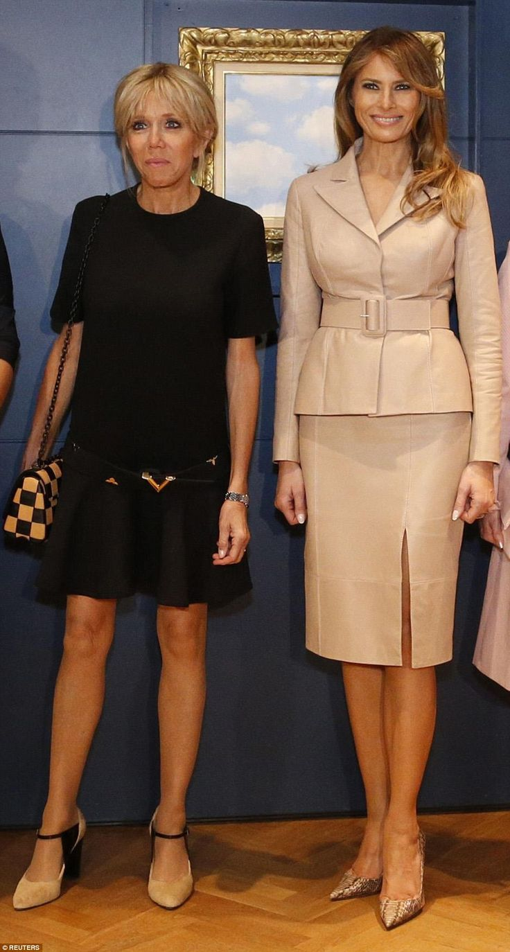 Look lovely in leather like Melania in Maison Ullens #DailyMail  Click 'Visit' to buy  now