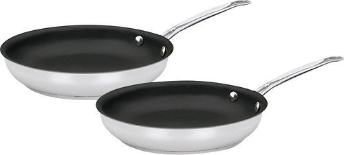 Cuisinart - Chef's Classic 2-Piece Skillet Set - Stainless-Steel