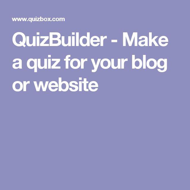 QuizBuilder - Make a quiz for your blog or website