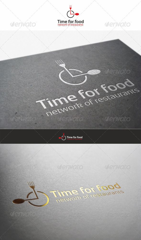 Creative Restaurant EPS Logo Template • Only available here ➝ http://graphicriver.net/item/time-for-food-restaurant-logo/890359?ref=pxcr