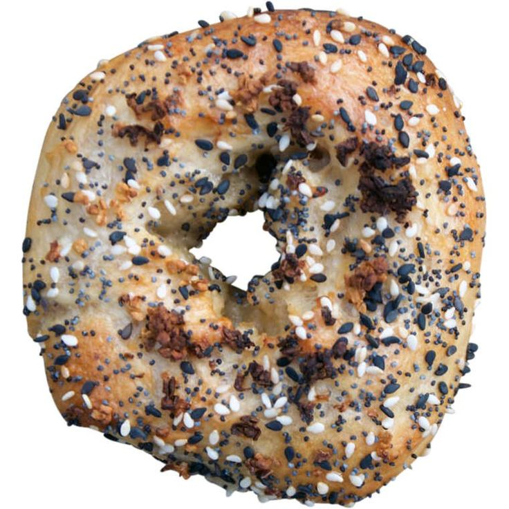 Yes! Here we are with Mike's traditional bagels made from sifted white Australian flour and sold in a 10-Pack. The Everything bagel is topped with a mixture of: