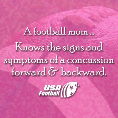 Need a refresher on the signs of a concussion? Always good for #FootballMoms to brush up!