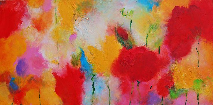 Sentiment de printemps II, acrylic, mixed media