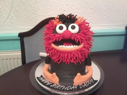 3D Animal from the Muppets cake  Cake by yummymummy