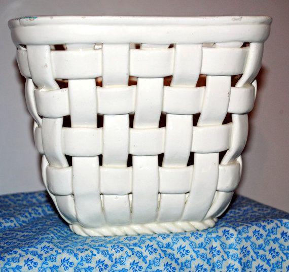 Tejido Cachepot cerámica española por CladdaghFarm en Etsy