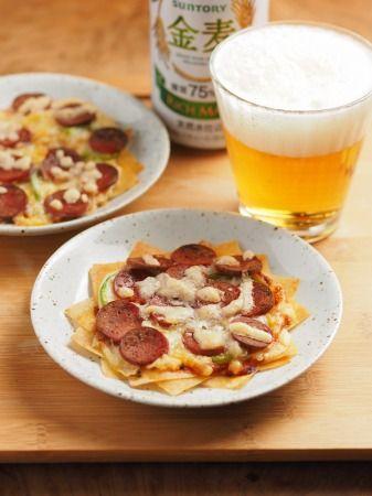 春巻き皮でぱりぱりサラミピザ - 筋肉料理人の家呑みレシピと時々 ... 春巻き皮でパリパリサラミピザ12.jpg