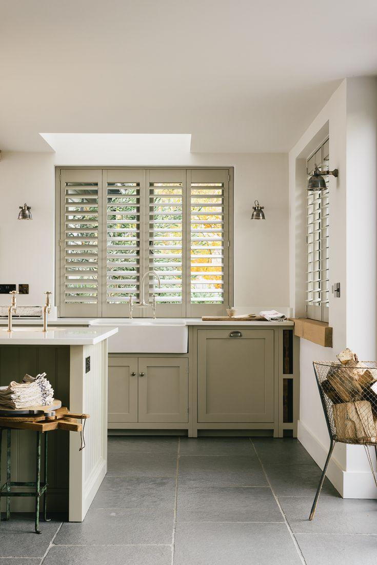 A beautiful big Belfast Sink in this simple deVOL Kitchen