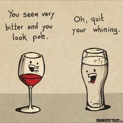 Pale and bitter...just like me