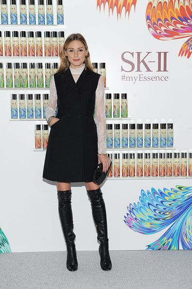 Olivia Palermo honored at the SKII #ChangeDestiny Holiday Essence Collection Launch Party on November 17 2016 in New York City