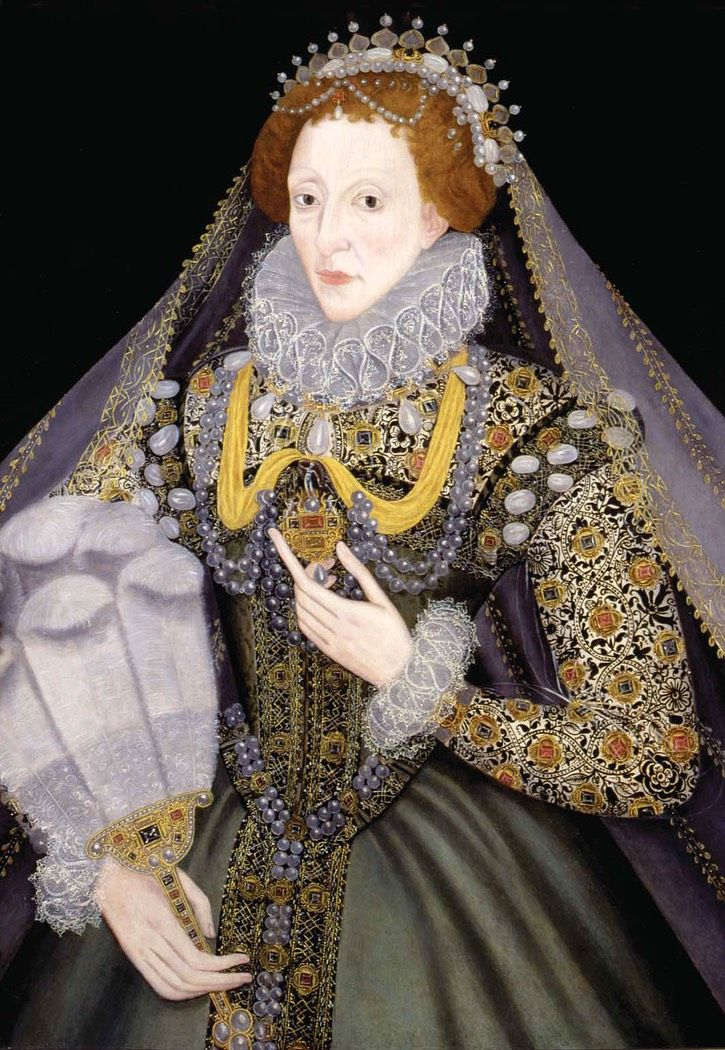 1570s Elizabeth I by ? (location unknown to gogm) | Grand Ladies | gogm