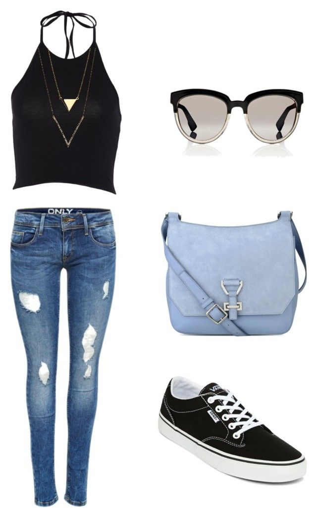 """""""out"""" by anyk-1 on Polyvore featuring Vans, Nine West and Christian Dior"""