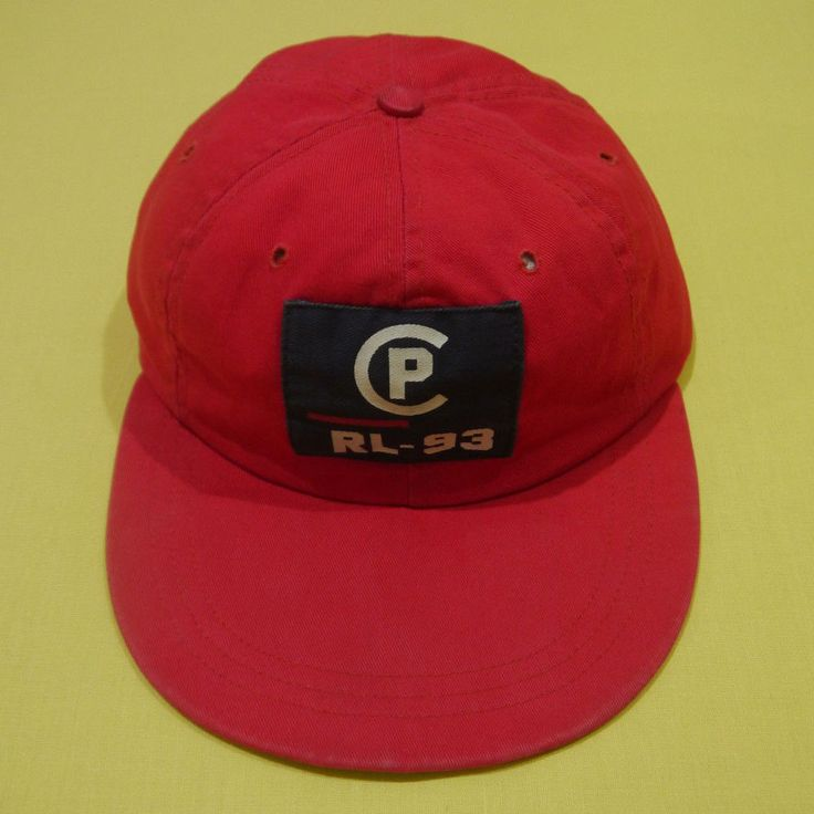 Vintage 90s Polo Ralph Lauren Cp Rl 93 Red Hat Cap Small