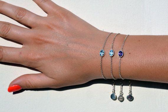Bali Bracelet with gemstone Sterlin Silver 925 by lililuh on Etsy