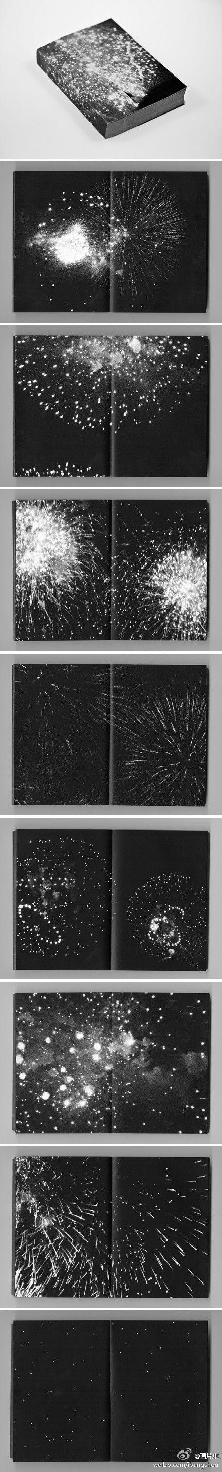 花火。一本非常特别的关于焰火划破夜空瞬间的摄影集。作者: pierre le hors