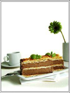 пирожные из слоёного теста с орехово-шоколадным кремом