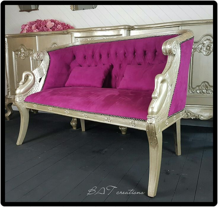 FOR HIRE pink empire french sofa