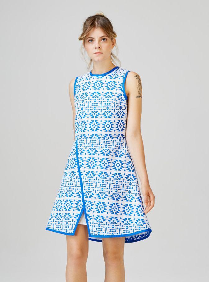 TIHANY - overlap dress