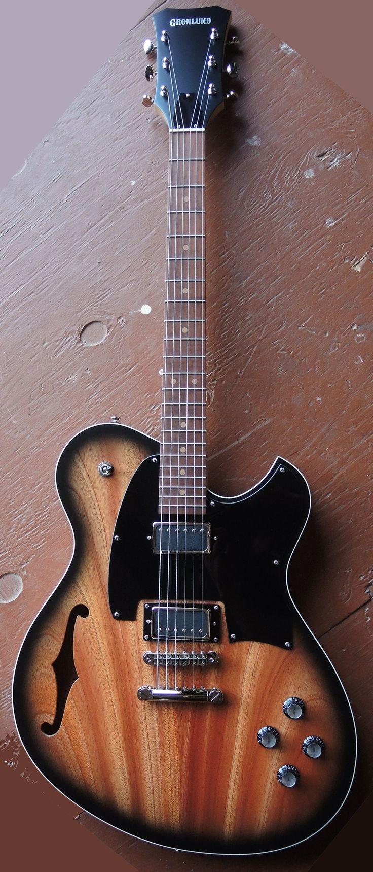 Gronlund OS15 semi-acoustic Guitar with a satin sunburst finish --- https://www.pinterest.com/lardyfatboy/