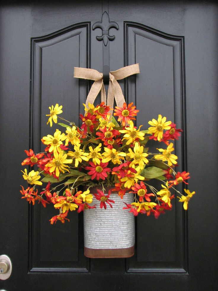 Floral Arrangements Wall Pockets Metal Containers