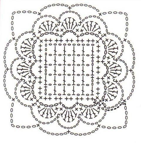 Motivos Confeccionados...I love the open,squared center in this motif...schema only...