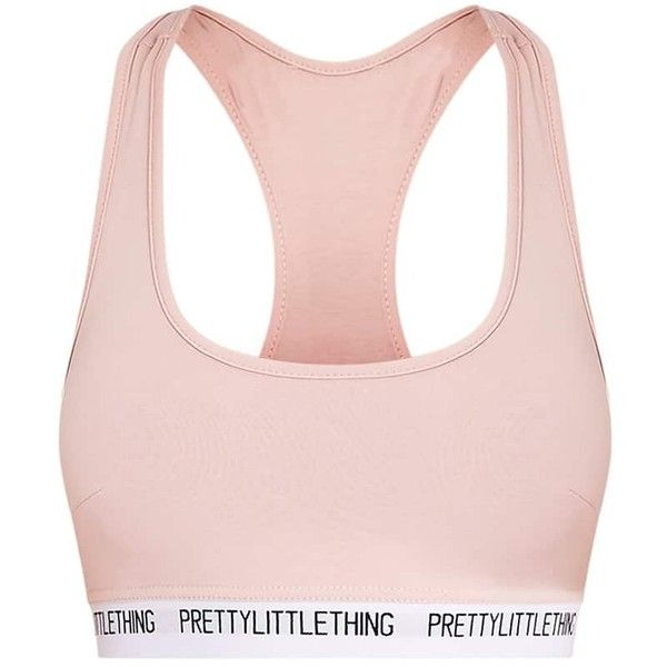 PrettyLittleThing Nude Sports Bra ($13) ❤ liked on Polyvore featuring activewear, sports bras, pink sportswear, pink sports bra, sports bra, athletic sportswear and sports jerseys