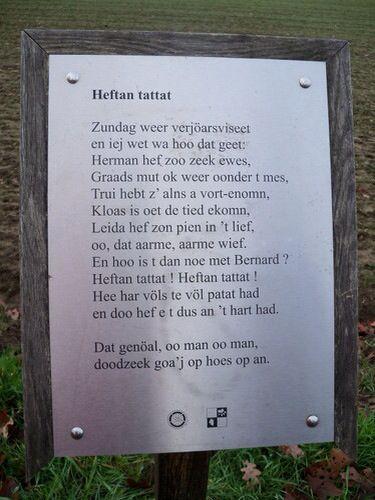 Heftan tattat - Willem Wilmink Gedichten van Willem Wilmink op borden rondom het Lonnekermeer