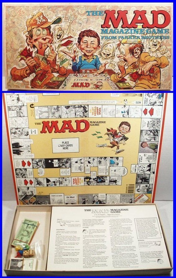 Vintage 1979 MAD MAGAZINE Board Game by Parker Brothers, Fun Retro Game!