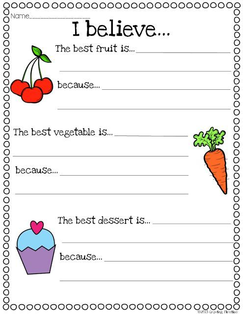ELA Printables in Common Core Crunch - September Opinion Writing, List Making, Word Work, digraphs, syllables, word families